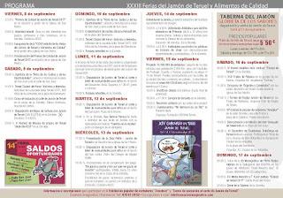 TERUEL. XXXIII Feria del Jamón de Teruel (del 8 al 17)