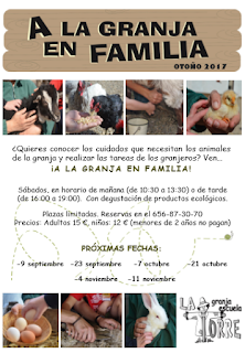 A la granja en familia (sábado, 7)
