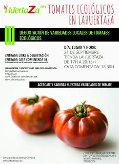 Degustación de tomates ecológicos en LA HUERTAZA (jueves, 21)
