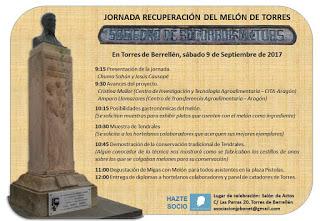 TORRES DE BERRELLÉN. Jornada Recuperación del melón de Torres (sábado, 9)