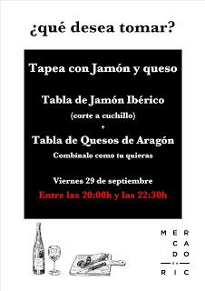 Tapeo con jamón y queso en el MERCADO DE RIC (viernes, 29)