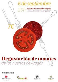 Degustación de tomates de Aragón (miércoles, 6)