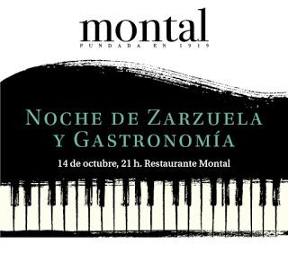 """Cena especial """"Noche de Zarzuela y gastronomía"""" (sábado, 14)"""