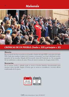 """MALUENDA. Recreación histórica """"Crónicas de un pueblo"""" (del 20 al 22)"""
