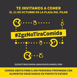 Comida popular con alimentos desechados #ZaragozaNoTiraLaComida (sábado, 21)