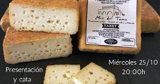 Presentación y cata de quesos (miércoles, 25)