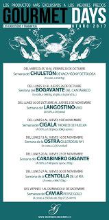 Gourmets Days en LOS CABEZUDOS y TRAGANTÚA con bogavante (del 23 al 26 de octubre)