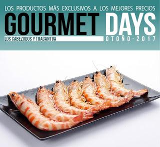 Gourmets Days en LOS CABEZUDOS y TRAGANTÚA con langostino (del 30 al 2)