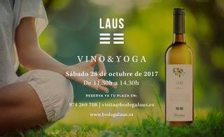 BARBASTRO. Experiencia Vino & Yoga (sábado, 28)
