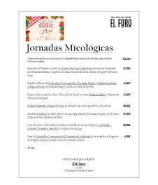 Jornadas micológicas en EL FORO (noviembre)
