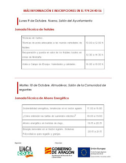 HOYA DE HUESCA. Semana agraria (del 9 al 13)