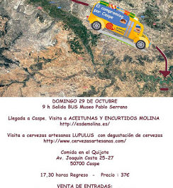 CASPE. Excursión de Slow Food (domingo, 29)