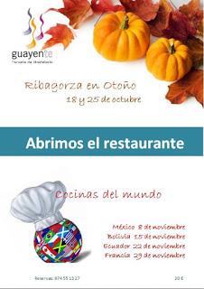 SAHÚN. Menú especial Francia en Guayente (miércoles, 29)