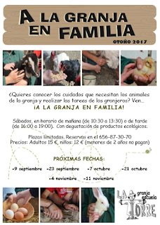 A la granja en familia (sábado, 11)