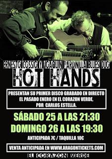 Concierto de Hot Hands (sábado, 25, y domingo, 26)