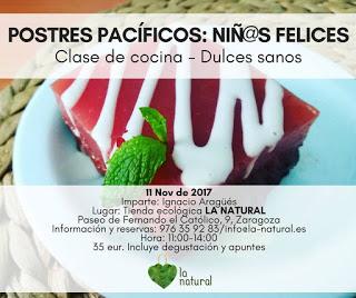 Taller de cocina de postres en LA NATURAL (sábado, 11)