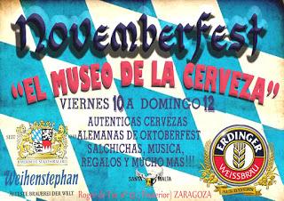 Novemberfest en EL MUSEO DE LA CERVEZA (del 10 al 12)