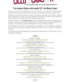 Cena cata maridaje en LOS CABEZUDOS Los mejores blancos del mundo (jueves, 23)