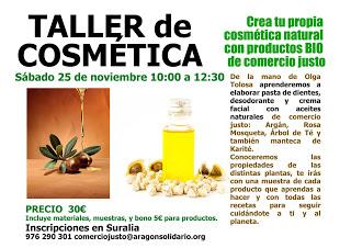 Taller de cosmética natural (sábado, 25)