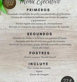 Nuevo menú semanal en DONDE CAROL (del lunes, 11, al viernes, 15)