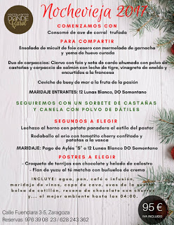 Nuevo menú semanal en DONDE CAROL y especial Nochevieja (del martes, 26, al viernes, 29)