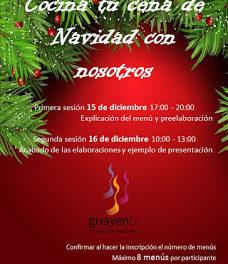 SAHÚN. Taller de cocina para Navidad en Guayente (viernes, 15, y sábado, 16)