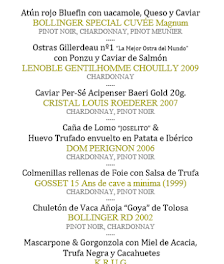 Cena cata maridaje en LOS CABEZUDOS. Los mejores champagnes del mundo (miércoles, 20)