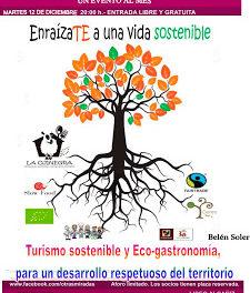 ALCAÑIZ. Jornadas sobre turismo sostenible y eco-gastronomía (martes, 12)