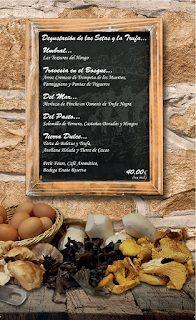 Menú degustación de setas y trufa (diciembre)