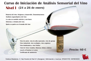 Curso de iniciación de Análisis Sensorial del Vino (del 24 al 26)