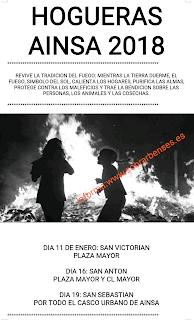 AÍNSA. Hogueras de enero (martes, 16, y viernes, 19)