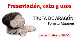 Presentación y cata de trufa de Aragón (jueves, 1)
