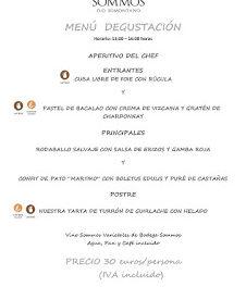 BARBASTRO. Menú degustación en RESTAURANTE SOMMOS (invierno)