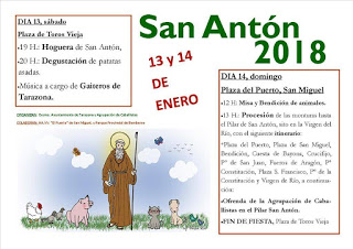 TARAZONA. Hoguera de san Antón (sábado, 13)