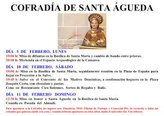 DAROCA. Fiestas de Santa Águeda (del lunes, 5, al domingo, 11)
