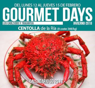 Gourmets Days en LOS CABEZUDOS y TRAGANTÚA con centolla (del 12 al 15 de febrero)