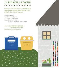 """SARIÑENA. Exposición itinerante """"Gracias por reciclar"""" (del 19 al 23)"""