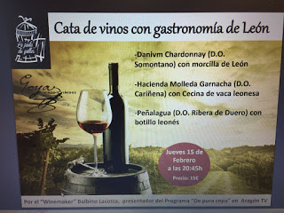 Cata de vinos con gastronomía de León (jueves, 15)