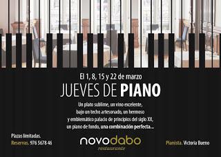 Cena con piano (jueves, 1, 8, 15 y 22)