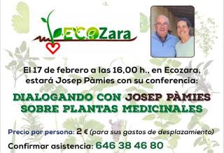 Dialogando con Josep Pàmies sobre plantas medicinales (sábado, 17)