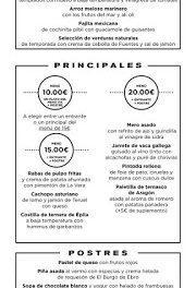 Nuevos menús a 10, 15 y 20 euros en ALBARRACÍN y +ALBARRACÍN (del 26 de febrero al 5 de marzo)