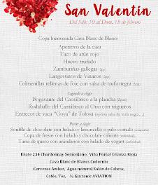 Menú de san Valentín en LOS CABEZUDOS y TRAGANTÚA (hasta el 18 de febrero)