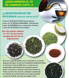 Degustación de tés (lunes, 12, 19 y 26)