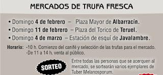 TERUEL. Mercado de trufa fresca (domingo, 11)