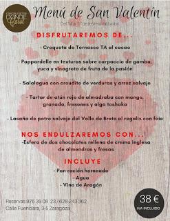 Menú de san Valentín en DONDE CAROL por 38 euros (del miércoles, 14, al sábado, 17)