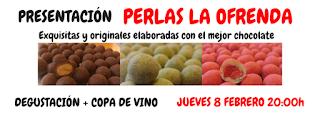 Presentación y degustación de perlas de chocolate (jueves, 8)