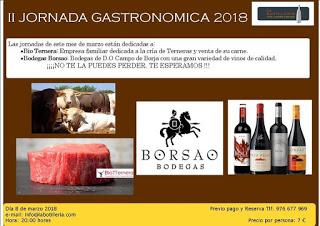 EJEA DE LOS CABALLEROS. Jornada gastronómica (jueves, 8)