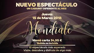Cena con espectáculo de cabaret (jueves, 15)