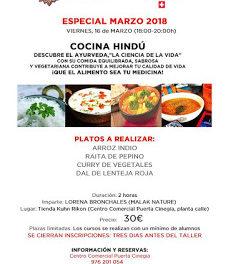 Curso de cocina hindú (viernes, 16)