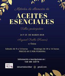 ARGUISAL. Taller de aceites esenciales (sábado y domingo, 24 y 25)